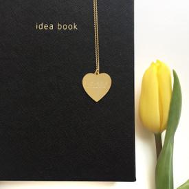 Halskette MIT GRAVUR - Gravurplatte Herz Gold Farbe - romantisches Geschenk – Bild 2