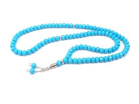 Lange Gebetskette Tesbih Misbaha Subha - Türkis Blau – Bild 1