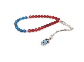 Gebetskette - Tesbih Trabzonspor TS für Fußballfans blau dunkelrot – Bild 1