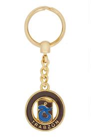 Schlüsselanhänger Trabzonspor TS für Fußballfans - aus Metall Gold Farbe