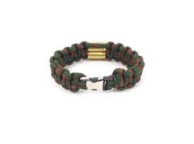 "Gök-Türk Armband für Herren ""Geschoss"" Kugel Patrone Soldat Armee Armeegrün – Bild 2"