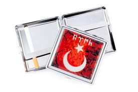 Gök-Türk Zigarettenetui Zigaretten Kasten  - Halbmond Ay Yildiz Ertugrul Alttürkisch Rot – Bild 1