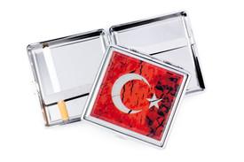 Gök-Türk Zigarettenetui Zigaretten Kasten  - Halbmond Ay Yildiz Türkische Flagge Türkei  Rot – Bild 1