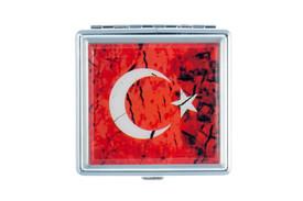 Gök-Türk Zigarettenetui Zigaretten Kasten  - Halbmond Ay Yildiz Türkische Flagge Türkei  Rot – Bild 2