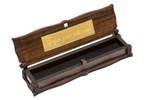 Gök-Türk Box Schatulle Aufbewahrung für Tesbih Gebetskette mit IHRER GRAVUR aus Holz Handgemacht 001
