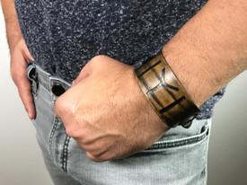 """Gök-Türk Armband Lederarmband für Herren """"IYI"""" aus echtem Leder Braun – Bild 2"""