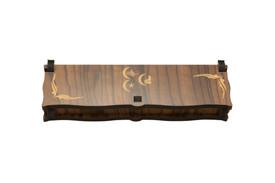 Gök-Türk Box Schatulle Aufbewahrung für Tesbih Gebetskette 3 Hilal 3 Halbmonde aus Holz Handgemacht – Bild 1