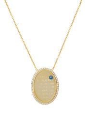 Remi Bijou 925 Silber Halskette mit Anhänger 'Allah' Muslim Islam Gold Farbe