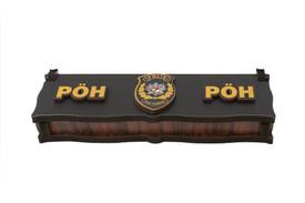 "Gök-Türk Box Schatulle MIT GRAVUR aus Holz Handgemacht & Tesbih Gebetskette ""PÖH Polis Özel Harekat"" 33 Perlen – Bild 2"