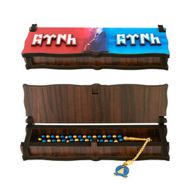 """Gök-Türk Box Schatulle MIT GRAVUR aus Holz Handgemacht & Tesbih Gebetskette """"Heulender Wolf"""" Ertugrul 33 Perlen – Bild 3"""