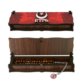 """Gök-Türk Box Casket for Tesbih prayer beads """"Besiktas"""" wooden handmade – Bild 3"""