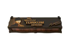 "Gök-Türk Box Schatulle MIT GRAVUR aus Holz Handgemacht & Tesbih Gebetskette ""Mustafa Kemal Atatürk"" 33 Perlen – Bild 2"