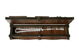 "Gök-Türk Box Schatulle MIT GRAVUR aus Holz Handgemacht & 925 Silber Tesbih Gebetskette ""Mustafa Kemal Atatürk"" 33 Perlen – Bild 2"