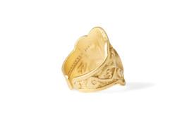 """Gök-Türk Ring für Herren """"Halbmond mit Stern"""" Ertugrul Ay Yildiz - verstellbare Größe - goldfarben – Bild 3"""