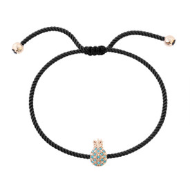 """Remi Bijou Armband Armkette """"Ananas"""" mit Strasssteine - verstellbare Größe – Bild 3"""