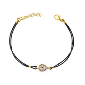 """Remi Bijou Armband Armkette Tropfen """"Türkisches Auge"""" Nazar Boncuk mit Strasssteine - verstellbare Größe – Bild 1"""