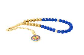 Gök-Türk Gebetskette - Tesbih Fenerbahce FB für Fußballfans - Blau Gold – Bild 1