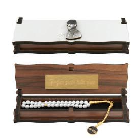 "Gök-Türk Box Schatulle MIT GRAVUR aus Holz Handgemacht & Tesbih Gebetskette ""Mustafa Kemal Atatürk"" 33 Perlen – Bild 1"