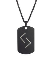 Gök-Türk Halskette für Herren Unisex mit Anhänger 'Cukur'- schwarz künye – Bild 1