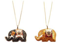 Exotische Halskette 'Elefant' – Bild 2