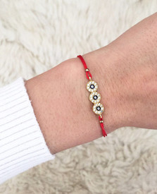 Armband Blaues Auge Nazar Boncuk - rot  – Bild 2