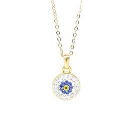 Halskette Türkisches Auge' Blume - Gold Farbe – Bild 1