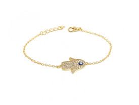 Armband Fatimas Hand Hamsa - Auge Nazar - Gold Farbe