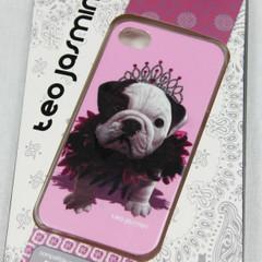 TEO JASMIN Cover für Iphone 4 4s iphone4 Bulldogge rosa Hardcase Handyschale NEU 001