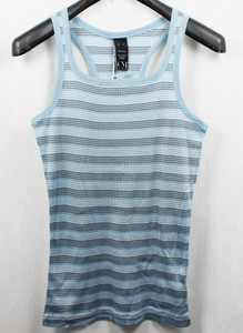 COLD METHOD mens Tank Shirt singlet merced cotton rib stripe 405. Angel Falls