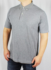 Wings + Horns Poloshirt W&H tee gray grau wingsandhorns 001