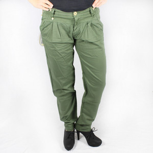 Nolita Stoffhose lockere Loose Fit Chino grün NATHALIES NATHALIE GABARDINA STRETCH No.l.ita
