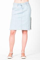 Miss Maggie Jeansrock hellblau  kurzer Rock mod. GONNA SOUL Jeans Blau 001