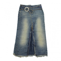 Mohave Jeansrock GONNA LUNGA YOUR CR303 blau blue dark 26 27 28 Wadenlang Rock  001