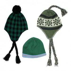ILO ILO Strickmütze grün bunt gemustert Winter Mütze verschiedene Modelle NEU