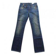 DIESEL Jeanshose CHERONE WASH 00B2H blau Hose Jeans dirty used Look Hüftjeans 001