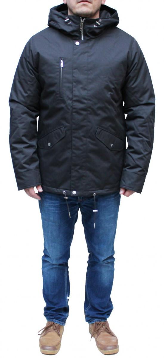 huge discount a5ec2 c77ae Elvine Winterjacke Cornell Charcoal Parka Mantel mens Jacke 173011 jacket