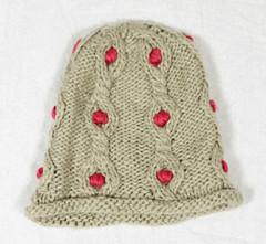 A-Zone Mütze mit rosa Pünktchen Wintermütze Strickmütze 2.42.259.0-999 Strick 001