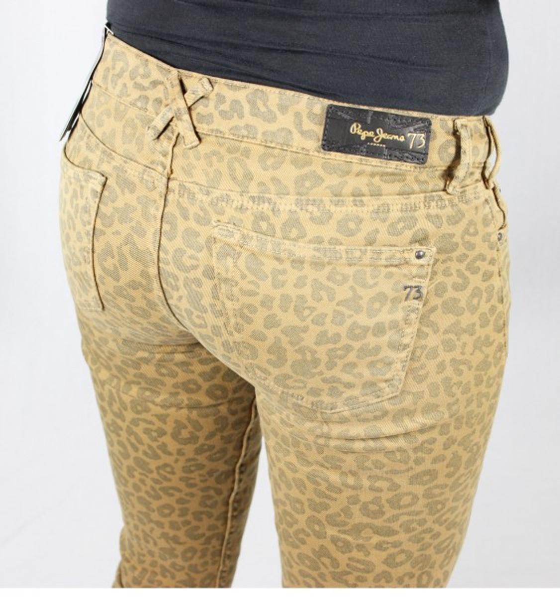 gute Textur beste Seite große Auswahl an Designs Pepe Jeans Feline Hose mit Leopardenmuster Hose 855camel camel