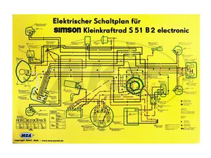 Item Image Wiring Diagram Color Post (69x49cm) Simson S51 B2