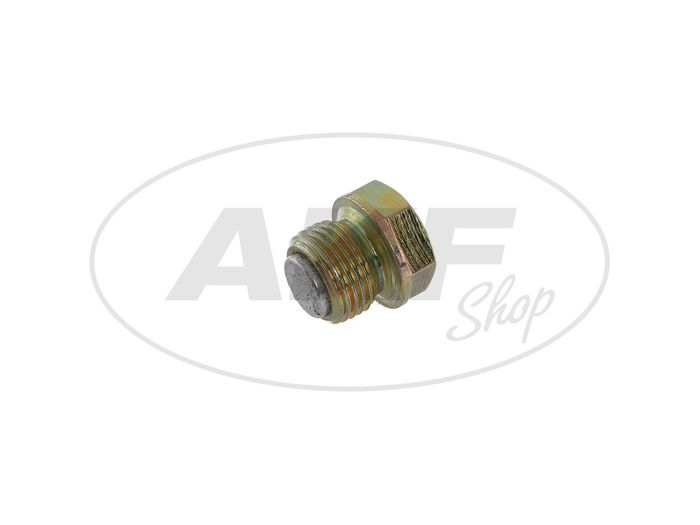 Oil drain plug with magnet - for Simson S50, KR51 / 1 Swallow, SR4-2 Star, SR4-3 Sperber, SR4-4 Habicht - Image #1