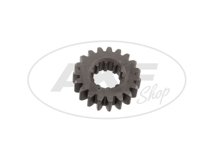 Fixed gear 19 tooth, 3rd gear (4-speed engine) - Simson S51, KR51 / 2 Schwalbe - Image #1