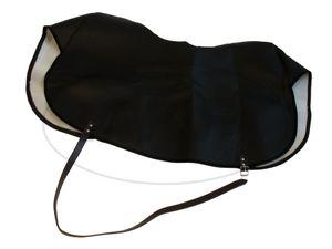 Knieschutzdecke schwarz, gefüttert, Handarbeit - für Simson SR4-1, SR4-2, KR50, KR51 -  Bild 1