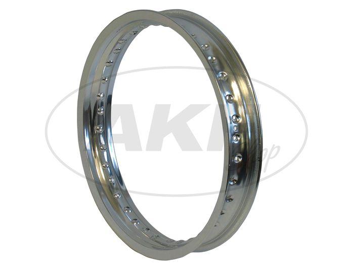 Felge Aluminium poliert 2,15 x 16 für Hinterrad - Bild #1