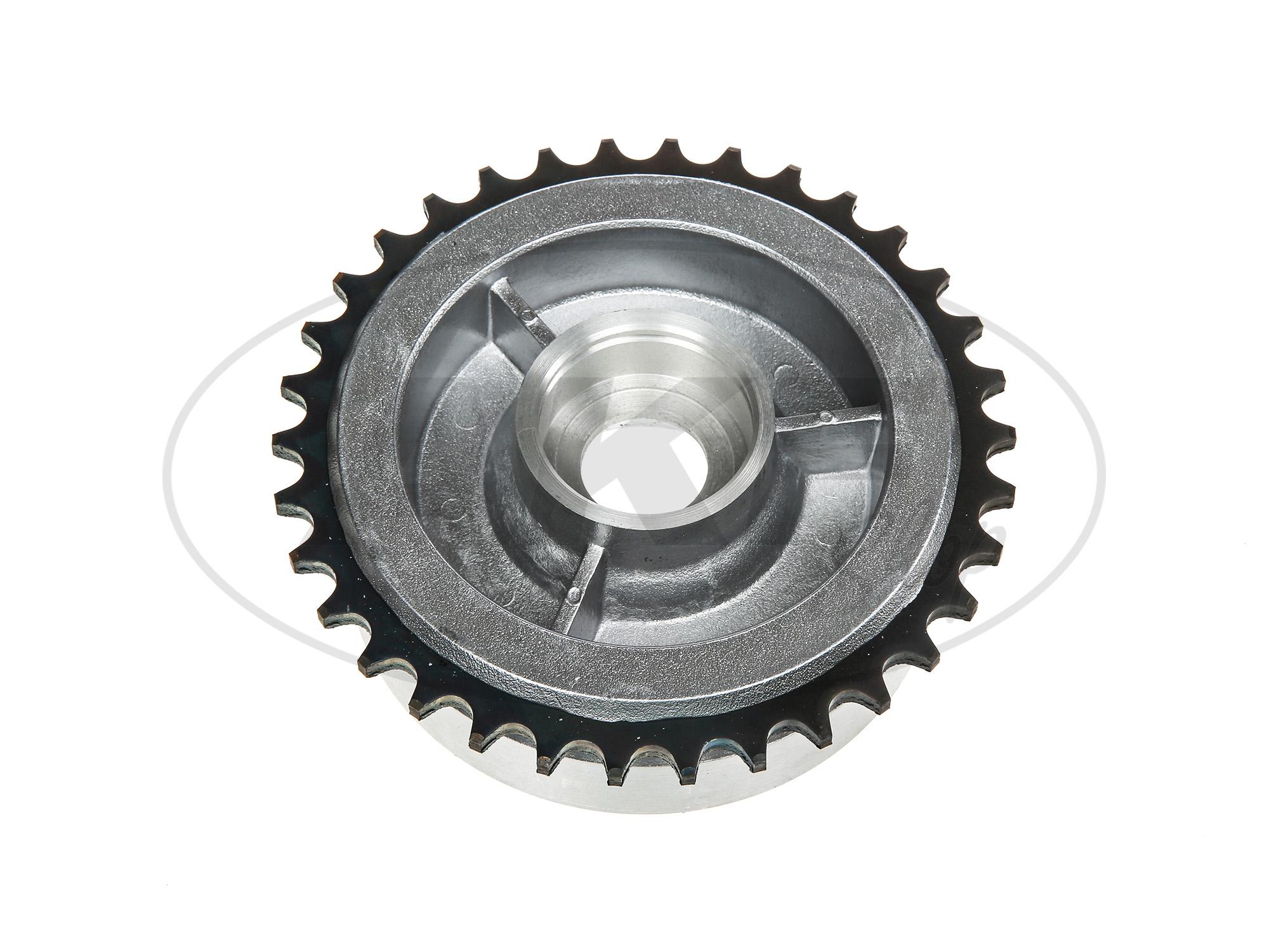 Zoom Ansicht Kettenrad-Mitnehmer, 34 Zahn ohne Kugellager - für Simson S50, S51, KR51 Schwalbe, SR4, Duo