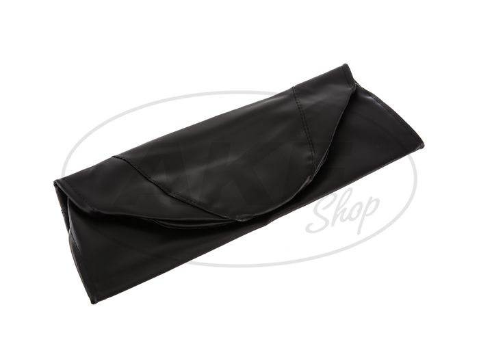 Seat cover smooth, black for short seat with SIMSON-lettering - Simson KR51 / 1 Schwalbe, SR4-2 Star - Image #1