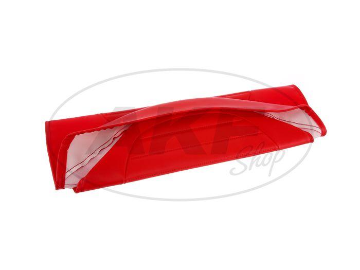 Sitzbezug strukturiert, rot ohne Schriftzug - für Simson S53, S83, SR50, SR80 - Bild #1