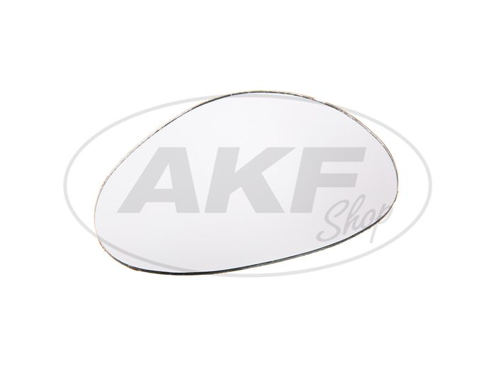 Mirror glass, left, kidney-round, 117 x 82mm - Image #1