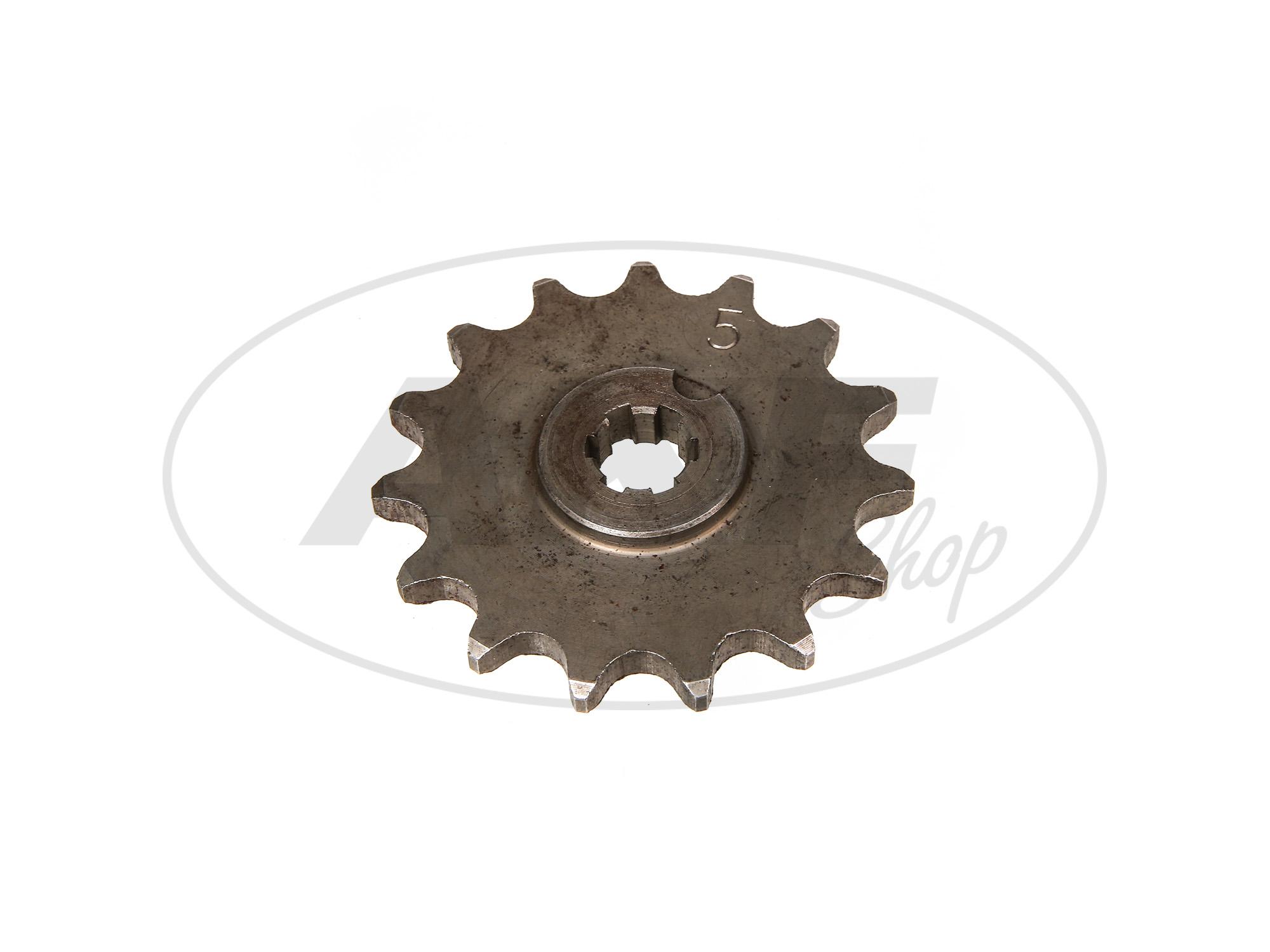 Zoom Ansicht Ritzel, kleines Kettenrad, 15 Zahn - für Simson S50, KR51/1 Schwalbe, SR4-2 Star, SR4-3 Sperber, SR4-4 Habicht