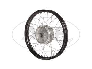 "Item Image Spoked wheel 1.5 x 16 ""aluminum rim, black anodized, stainless steel spokes - Simson S50, S51, KR51 Schwalbe, SR4"