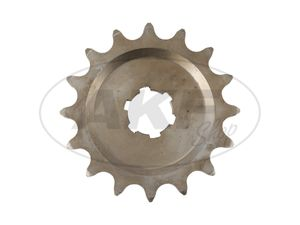 Item Image Small chain wheel, 15 tooth - for MZ ES125, ES150, TS125, TS150, RT125 - IWL SR56 Weasel